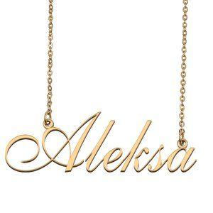 Custom Personalized Aleksa Name Necklace